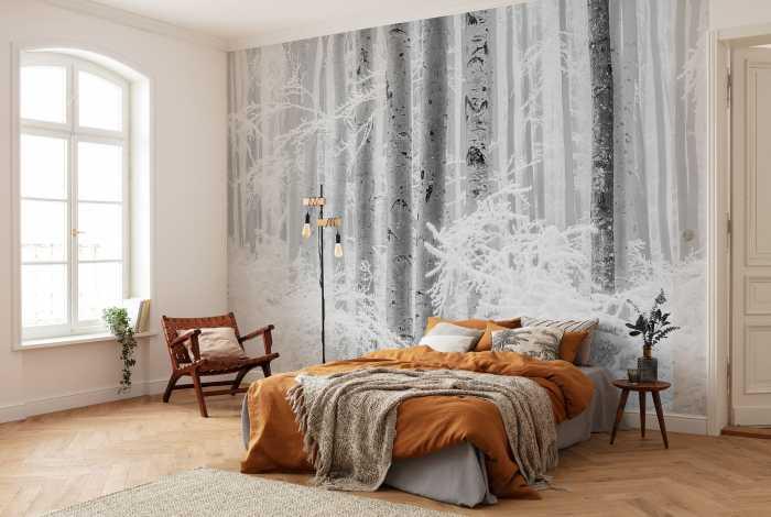 Digitaldrucktapete Winter Wood