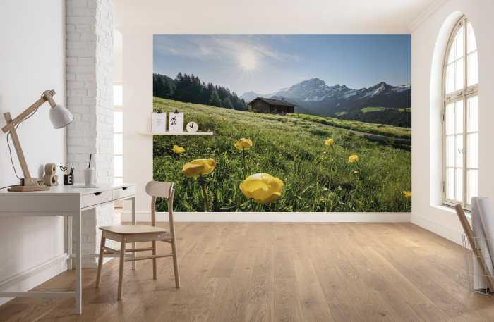Digitaldrucktapete Alpenglück