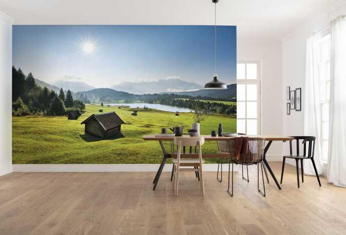 Digitaldrucktapete Bergwiese vor Karwendel