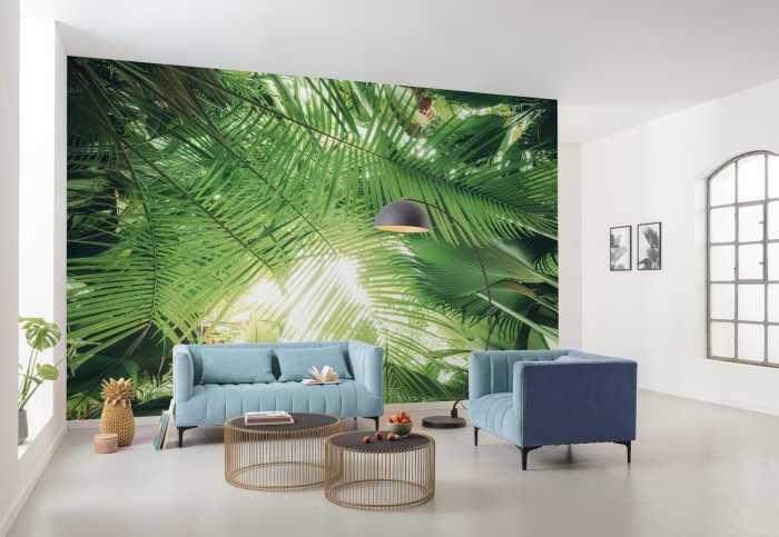 Digitaldrucktapete Dschungeldach