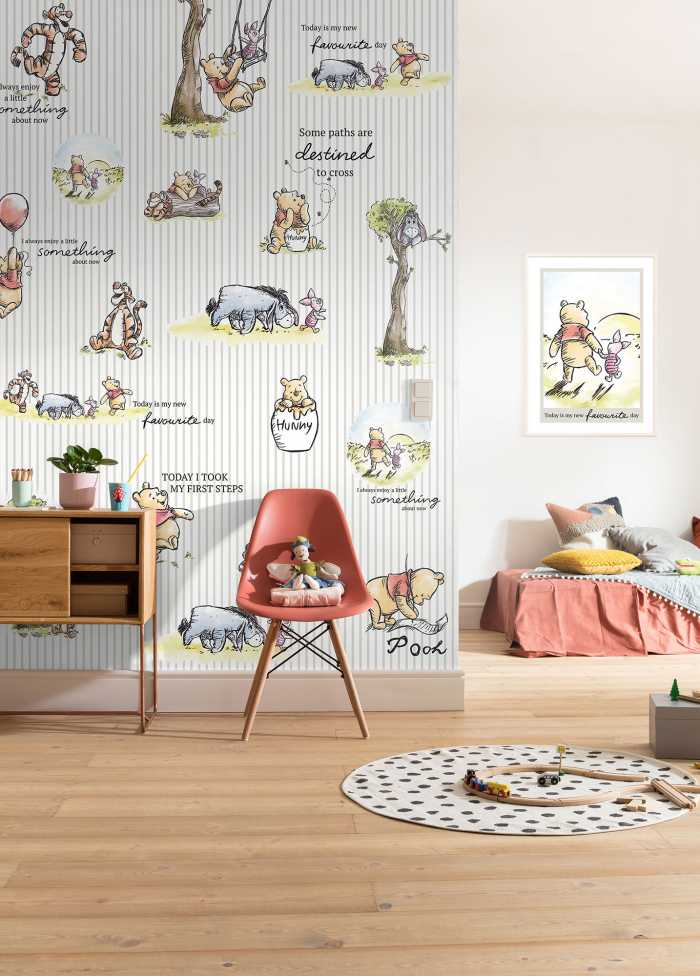 Digitaldrucktapete Winnie Pooh - Stripes