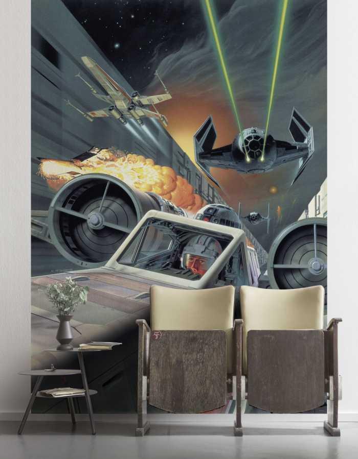 Digitaldrucktapete Star Wars Classic Death Star Trench Run