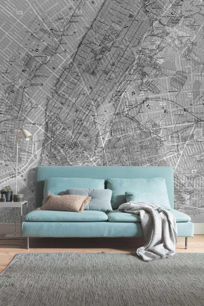 Digitaldrucktapete NYC Map
