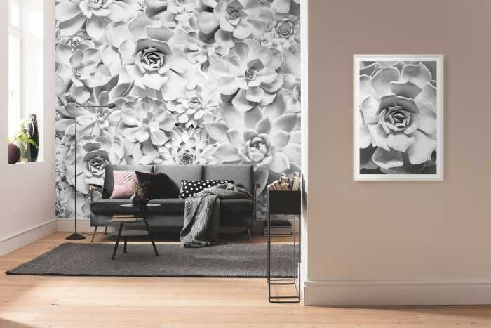 Digitaldrucktapete Shades Black and White