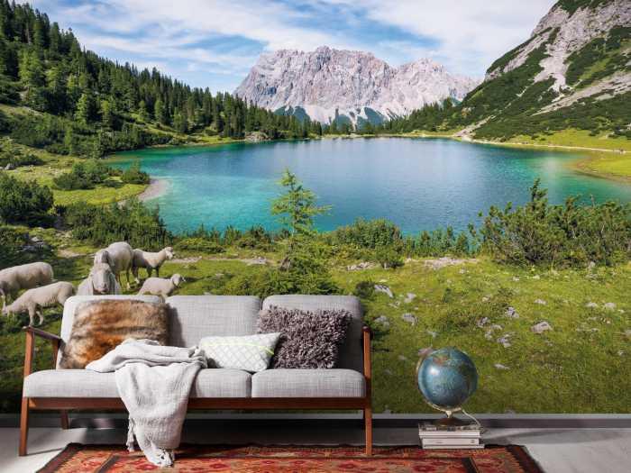 Digitaldrucktapete Paradise Lake