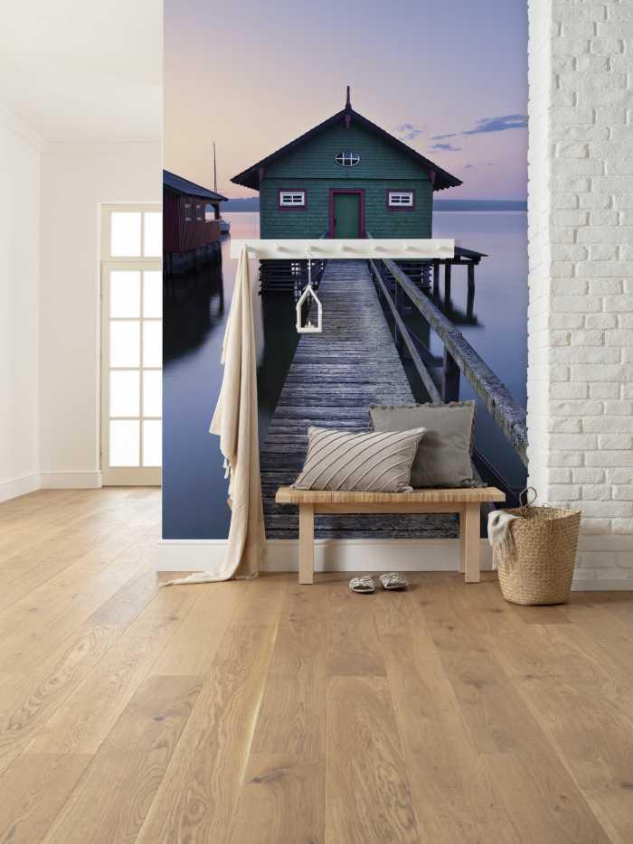 Digitaldrucktapete Das grüne Bootshaus