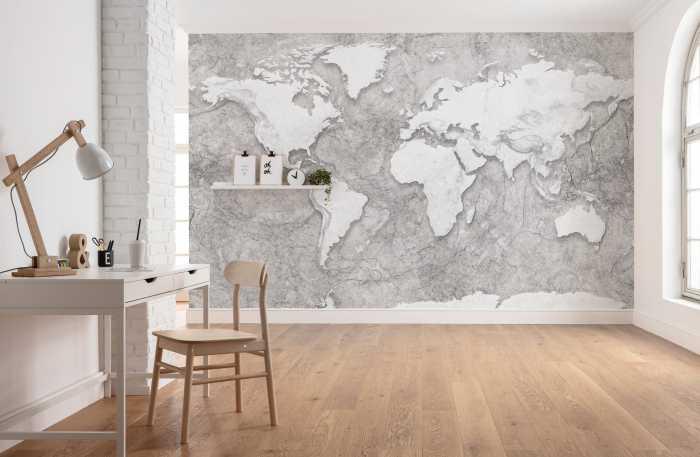 Digitaldrucktapete World Relief