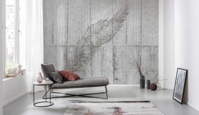 Digitaldrucktapete Concrete Feather