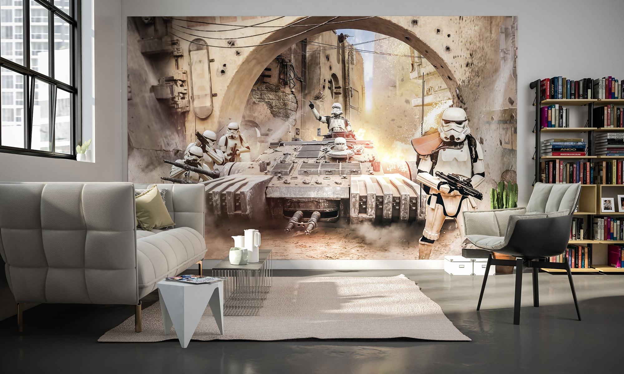 vliestapete star wars tanktrooper von komar. Black Bedroom Furniture Sets. Home Design Ideas