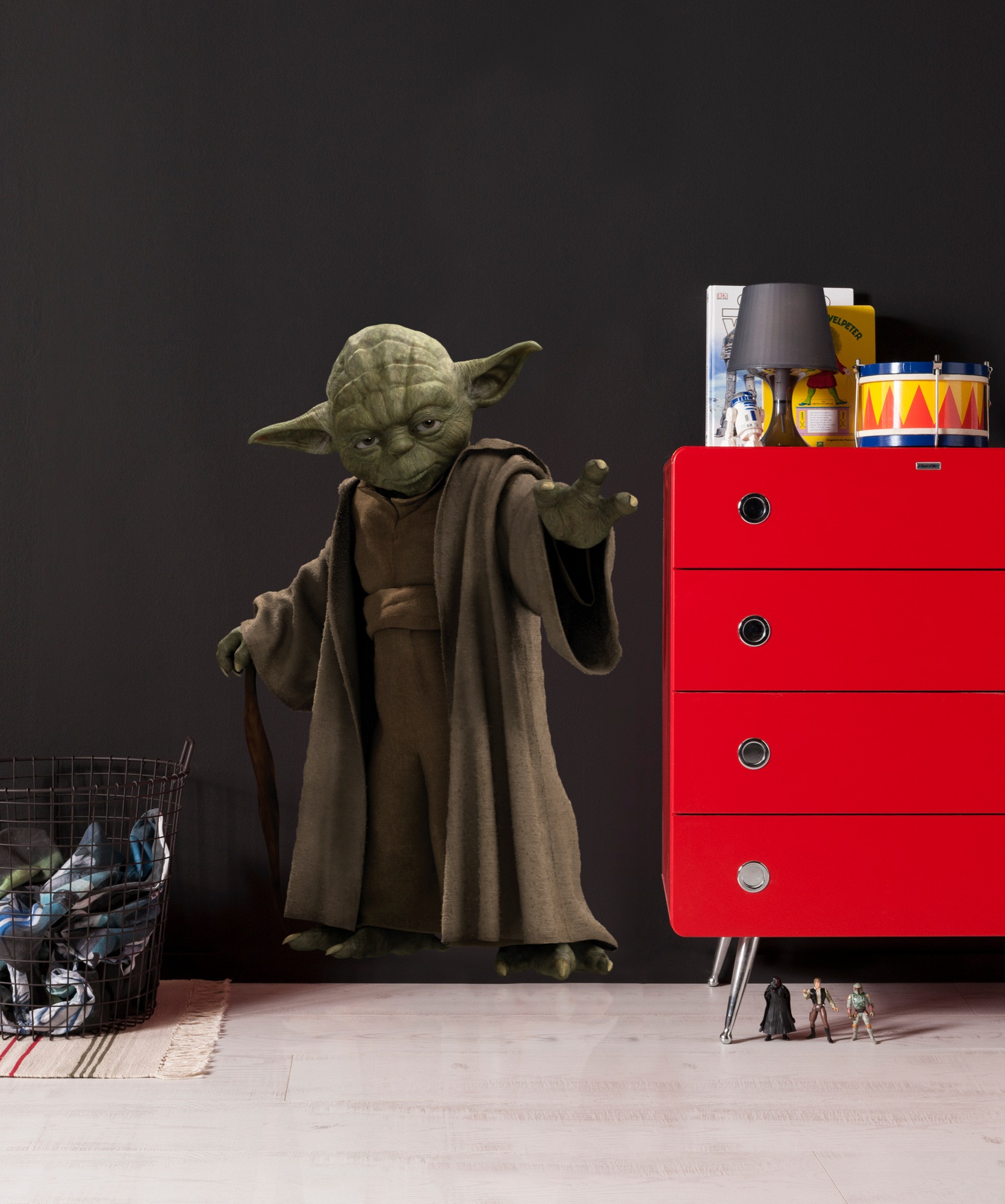wandsticker star wars yoda von komar. Black Bedroom Furniture Sets. Home Design Ideas
