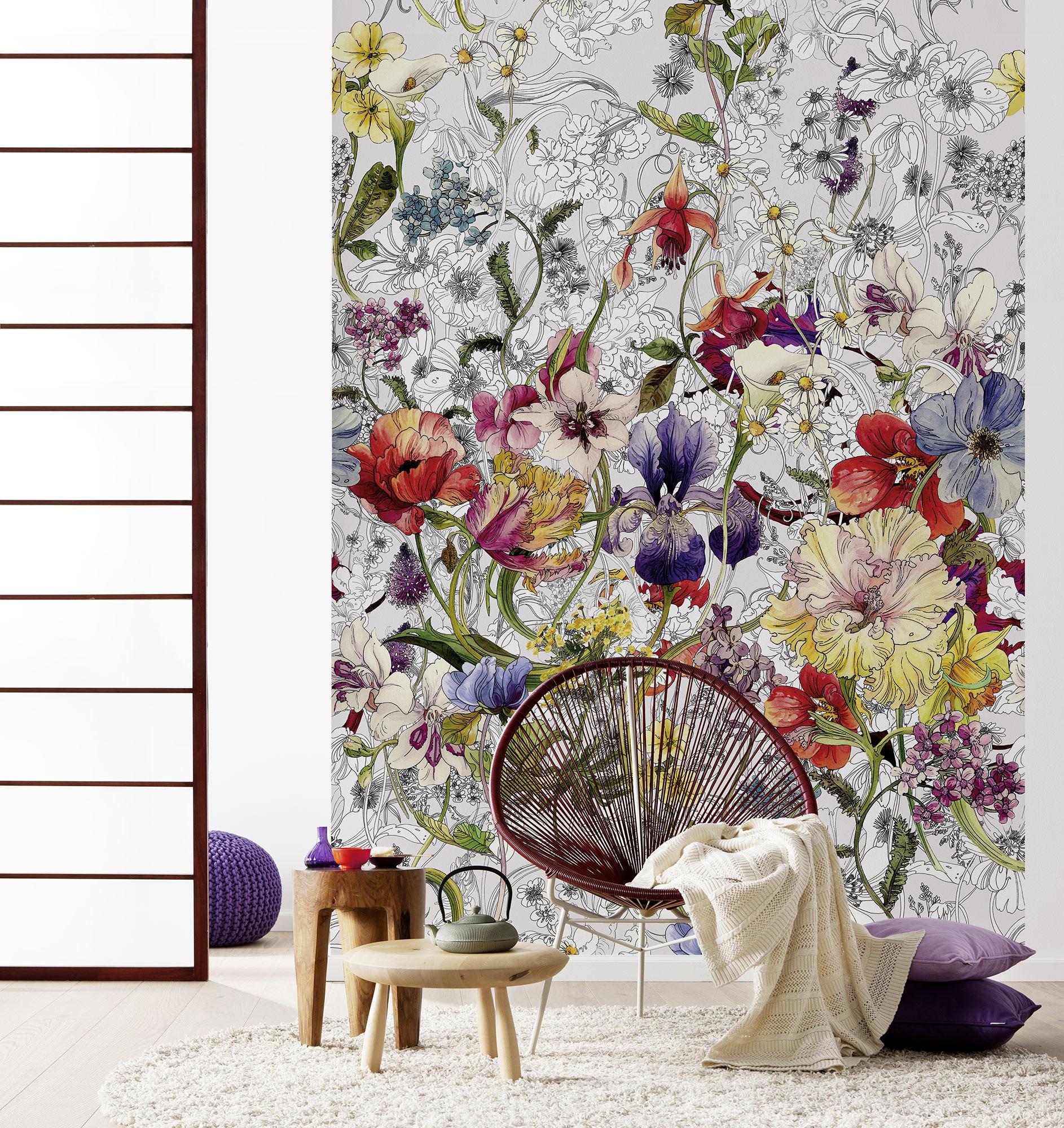 fototapete flora von komar. Black Bedroom Furniture Sets. Home Design Ideas