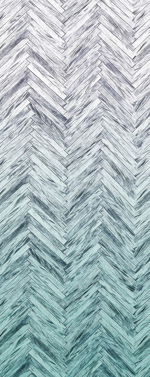 Herringbone Mint Panel