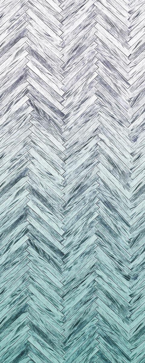 Herringbone Mint Panel