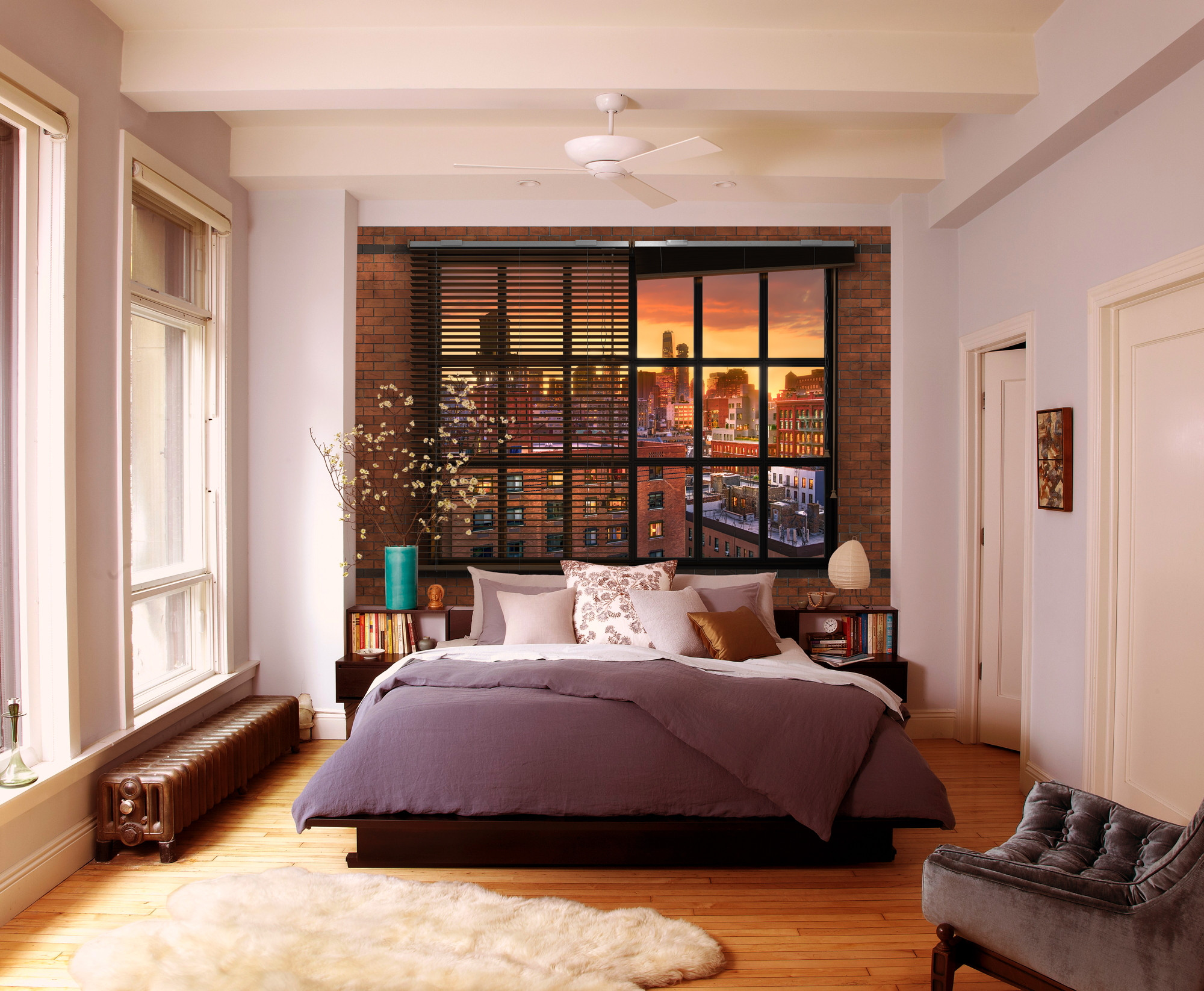 fototapete brooklyn brick von komar. Black Bedroom Furniture Sets. Home Design Ideas