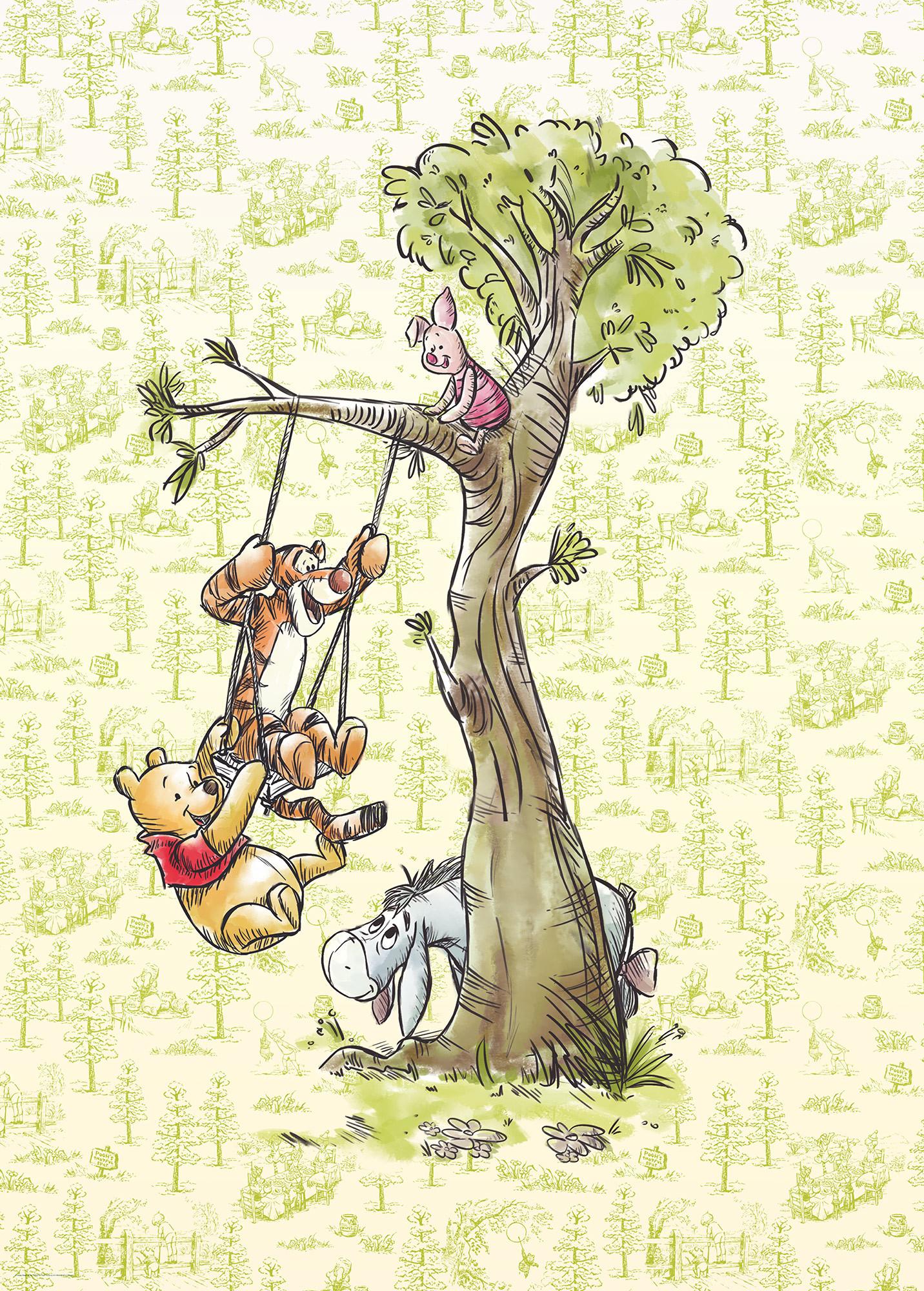 Winnie Pooh in the wood