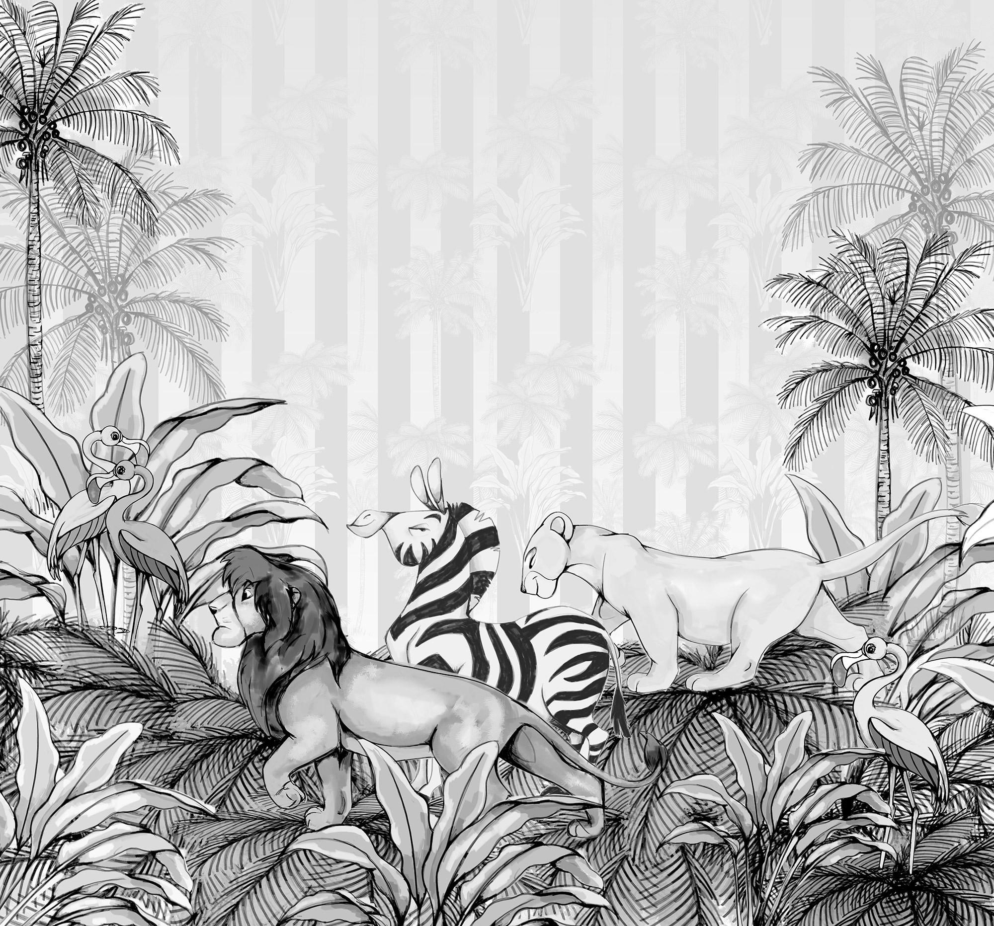 Lion King Monochrome