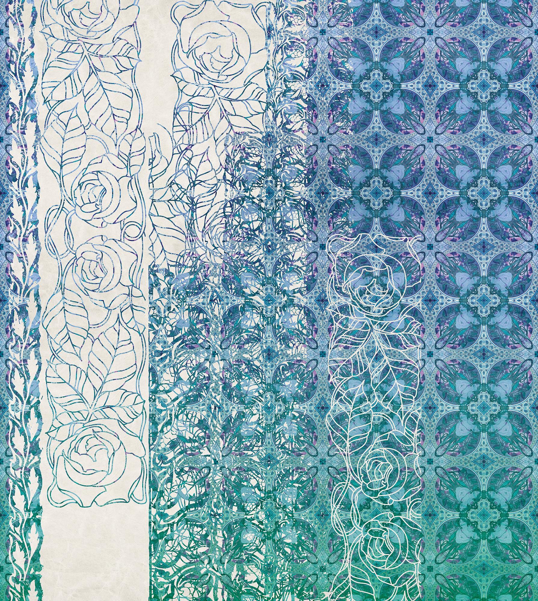 Art Nouveau Bleu