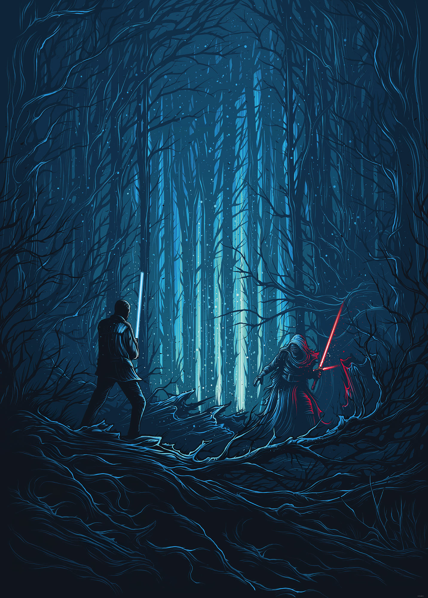 Star Wars Wood Fight