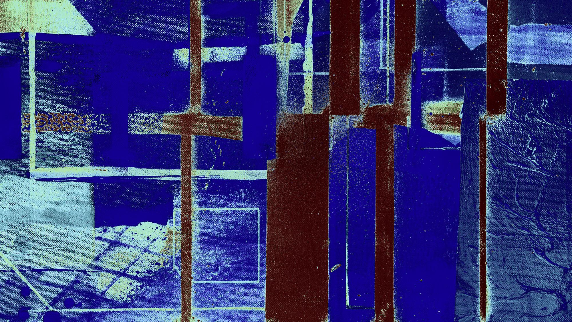 Cuboids Linedup blue-mocca