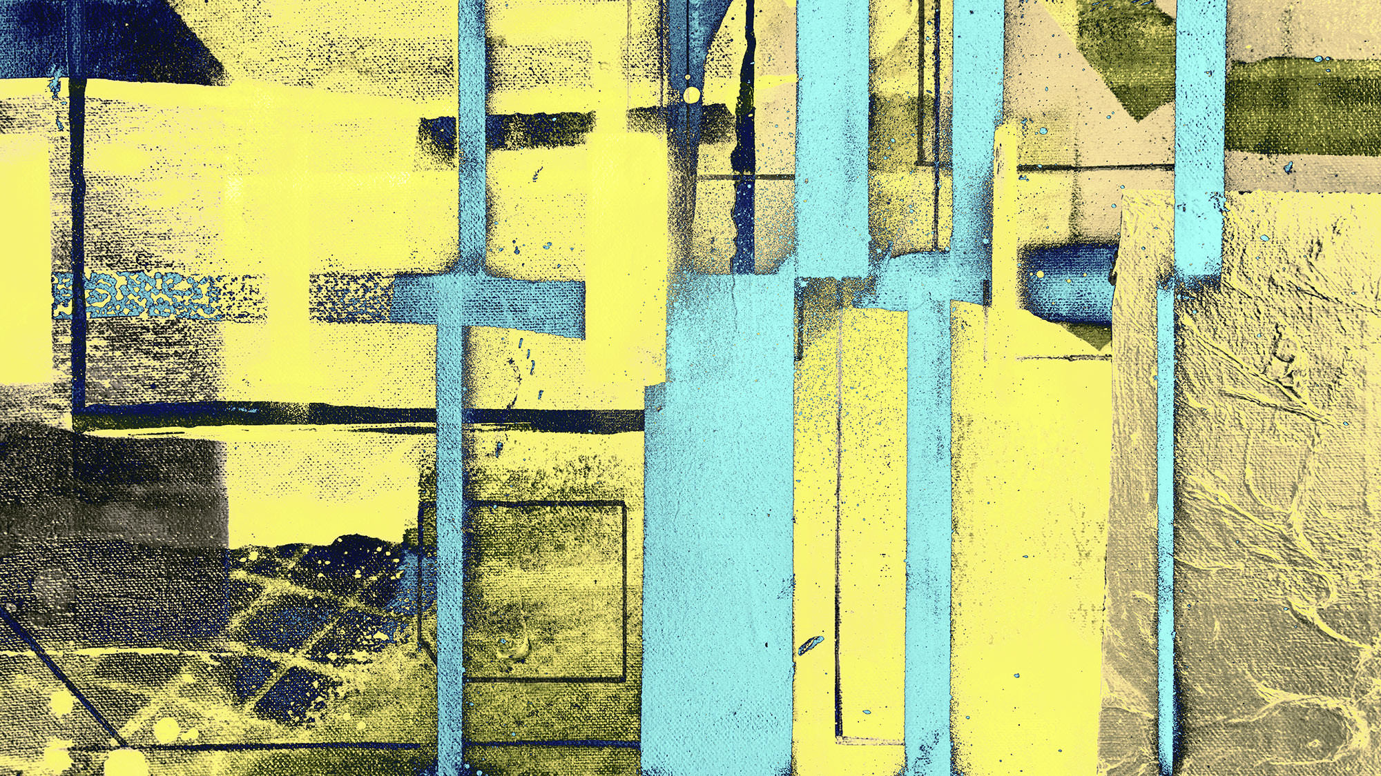 Cuboids Linedup yellow-ice