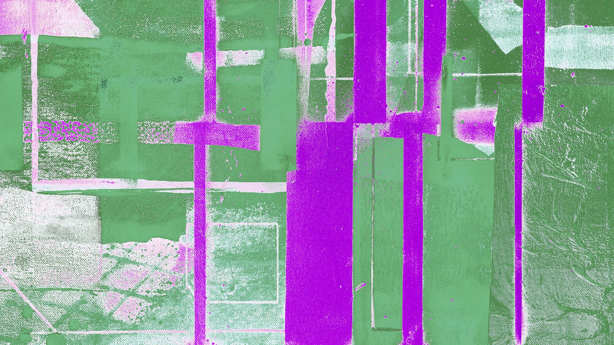 Cuboids Linedup green-violett