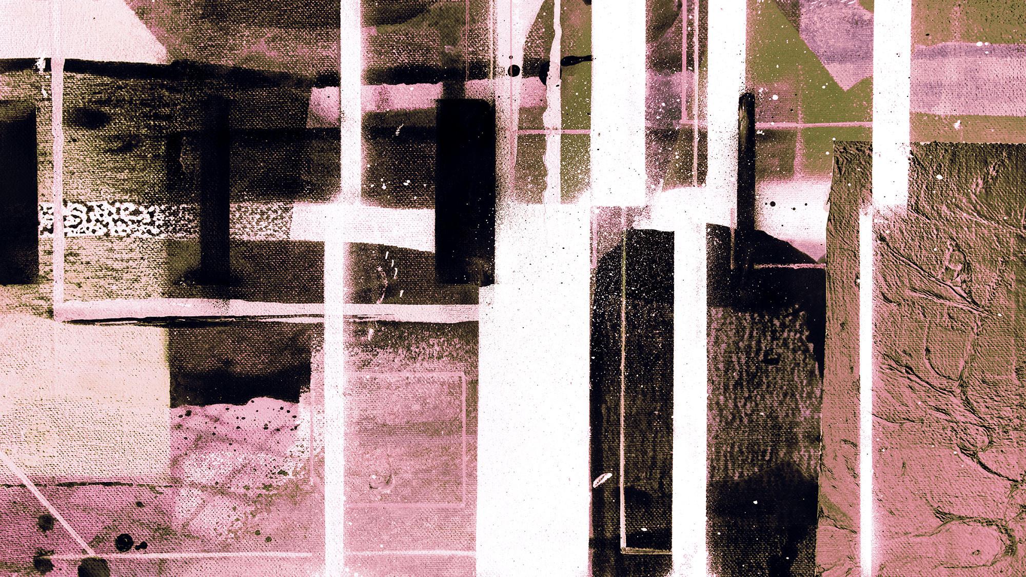 Cuboids Linedup darkrose