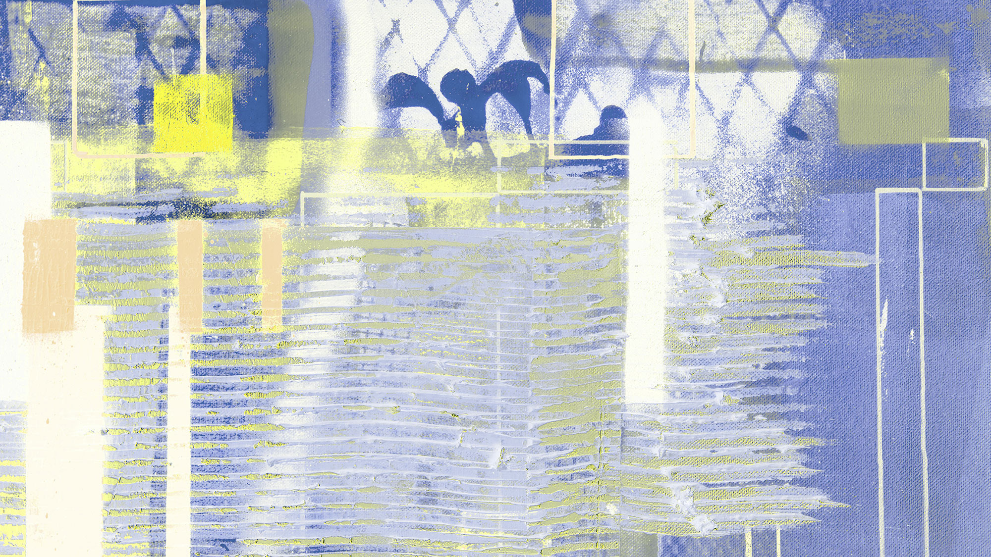 Rhombus Hiding yellow-blue