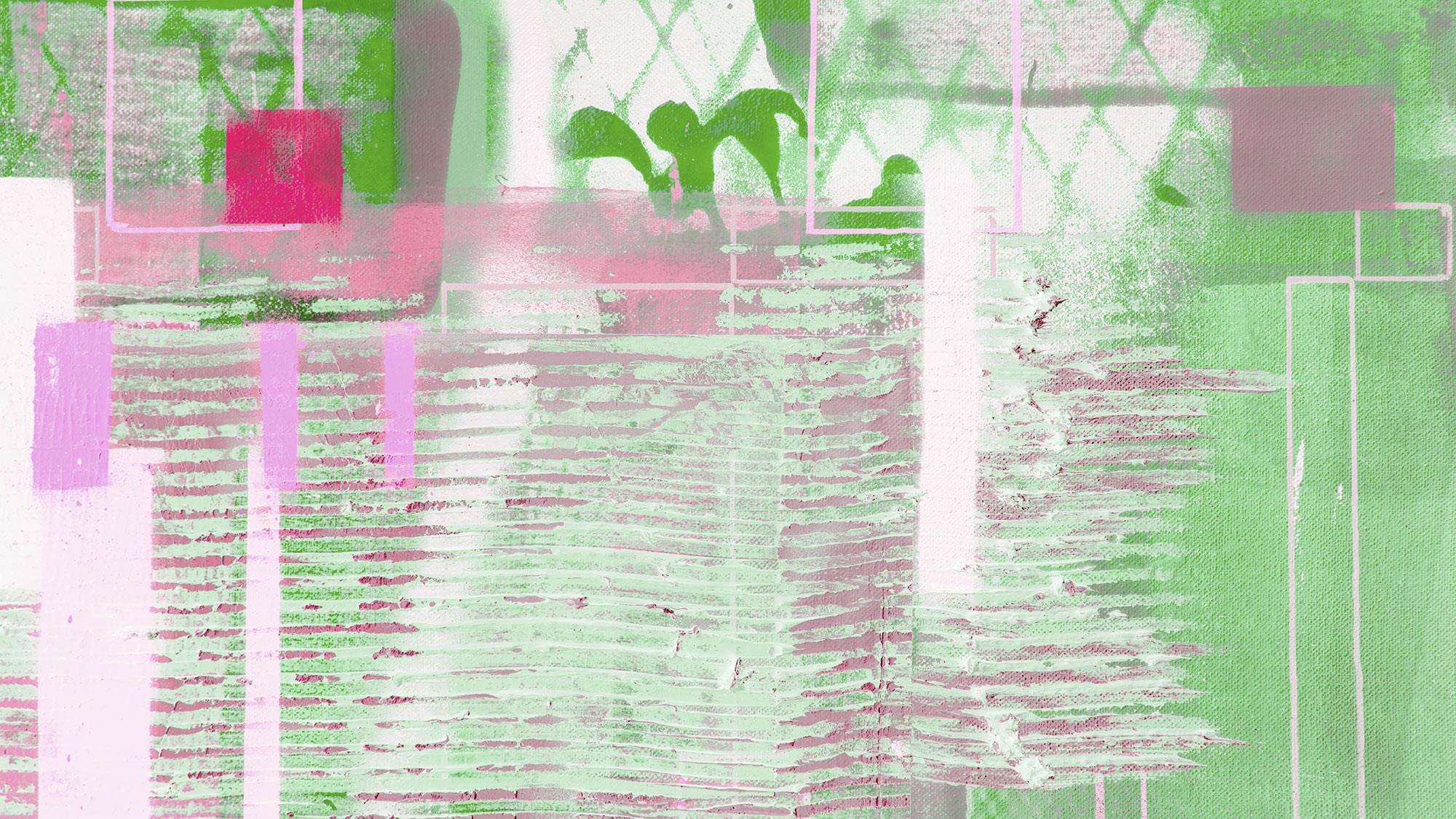 Rhombus Hiding rose-green