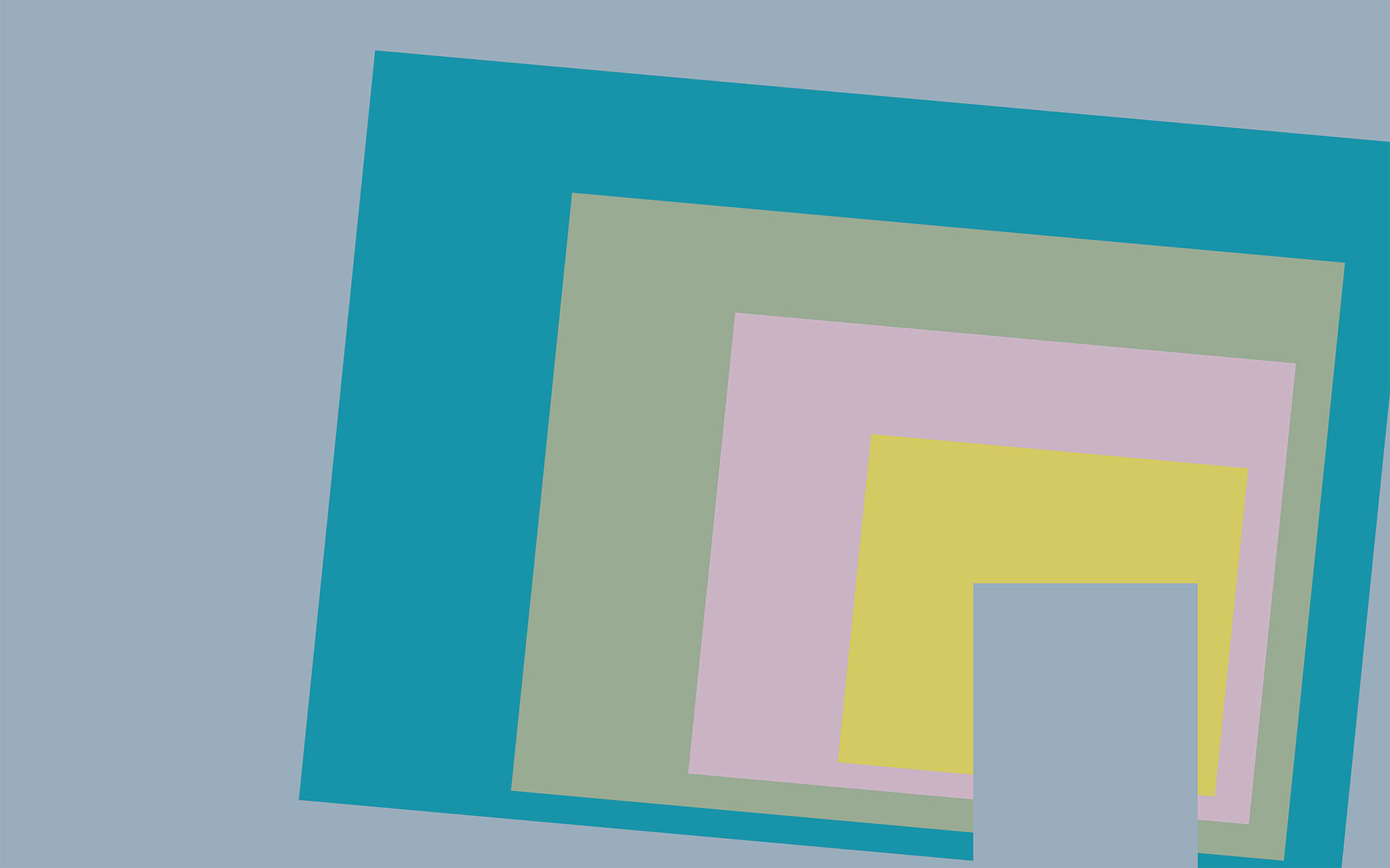 Blocking Oblique bleu-yellow