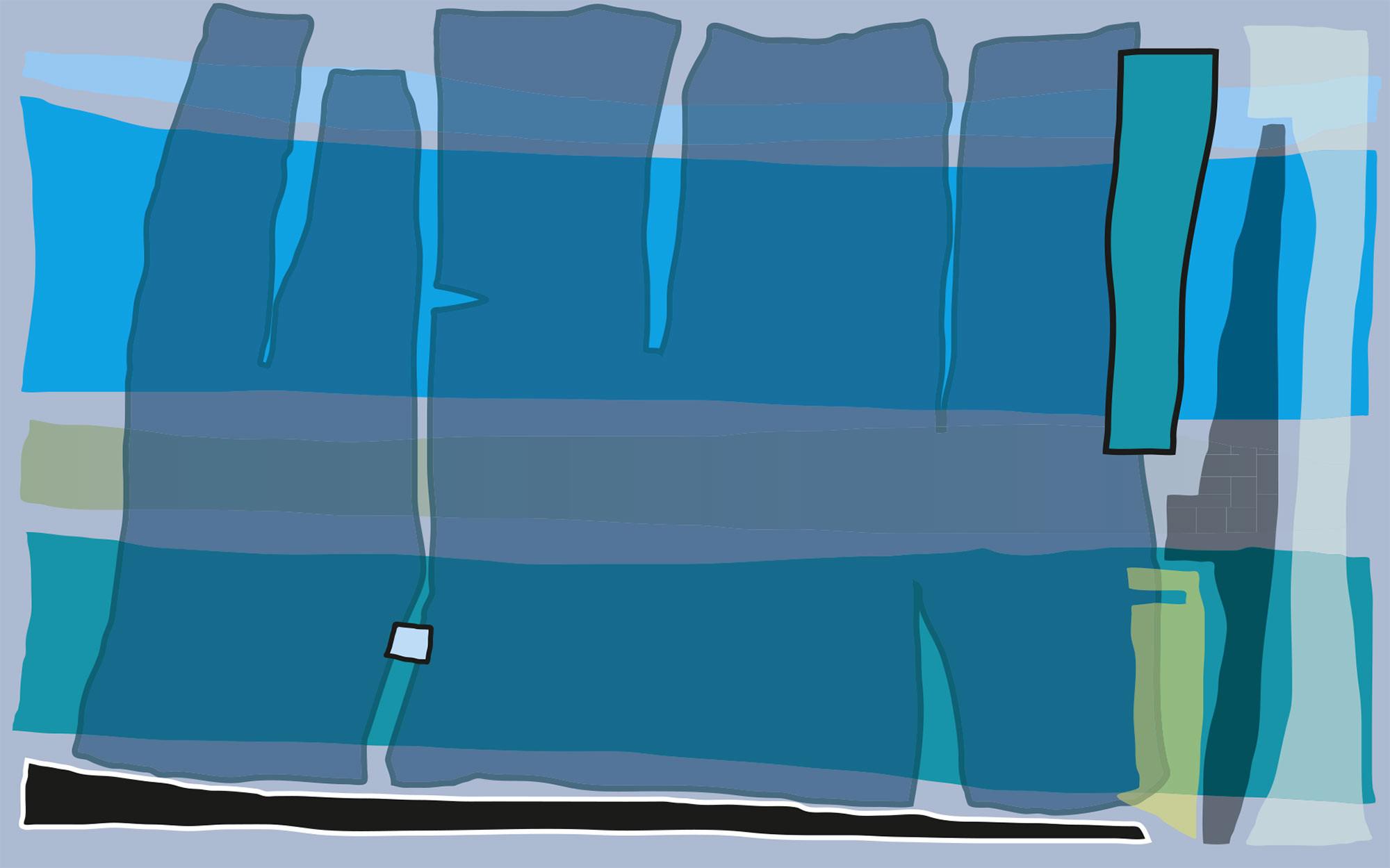 Composition 4 blue-petrol
