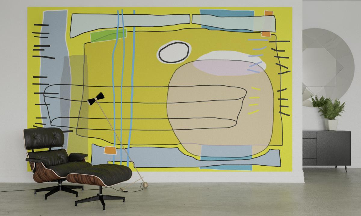 Composition 5 yellow-ocker