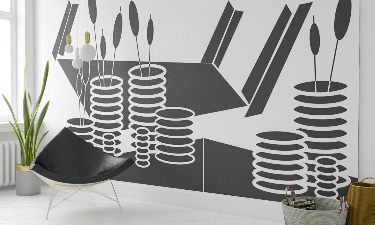 Perspektive Vases black-white