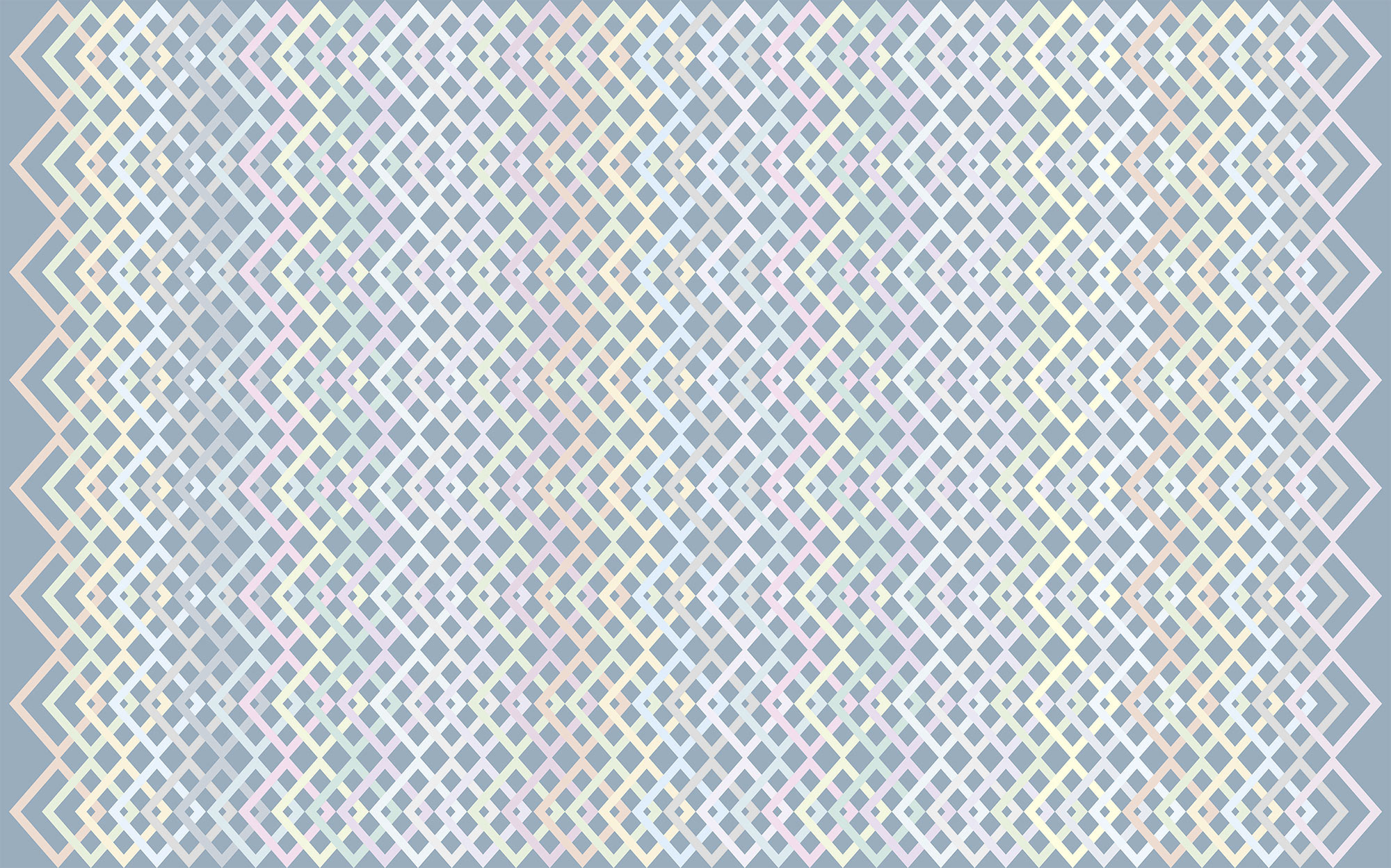 Structure Rhombus bleu-pastell