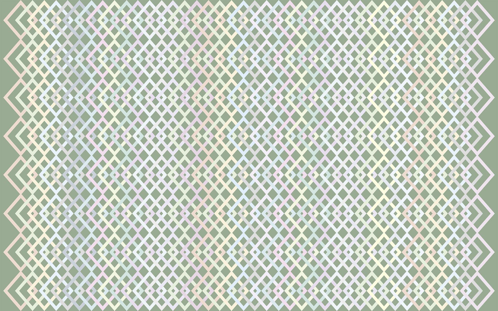 Structure Rhombus greygreen-pastell