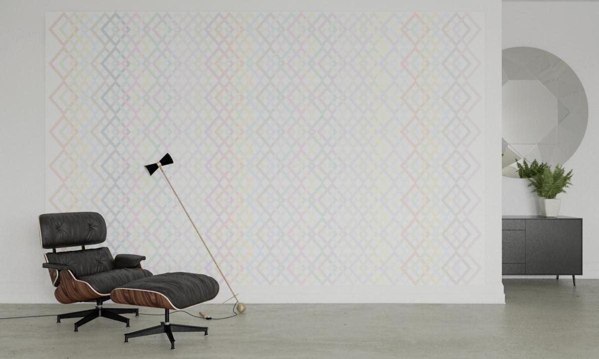 Structure Rhombus white-pastell