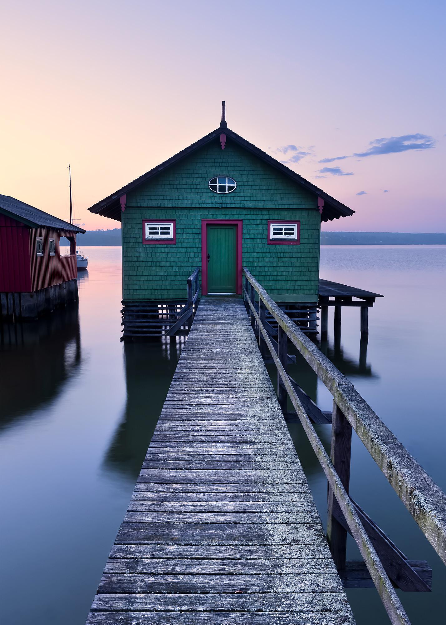 Das grüne Bootshaus