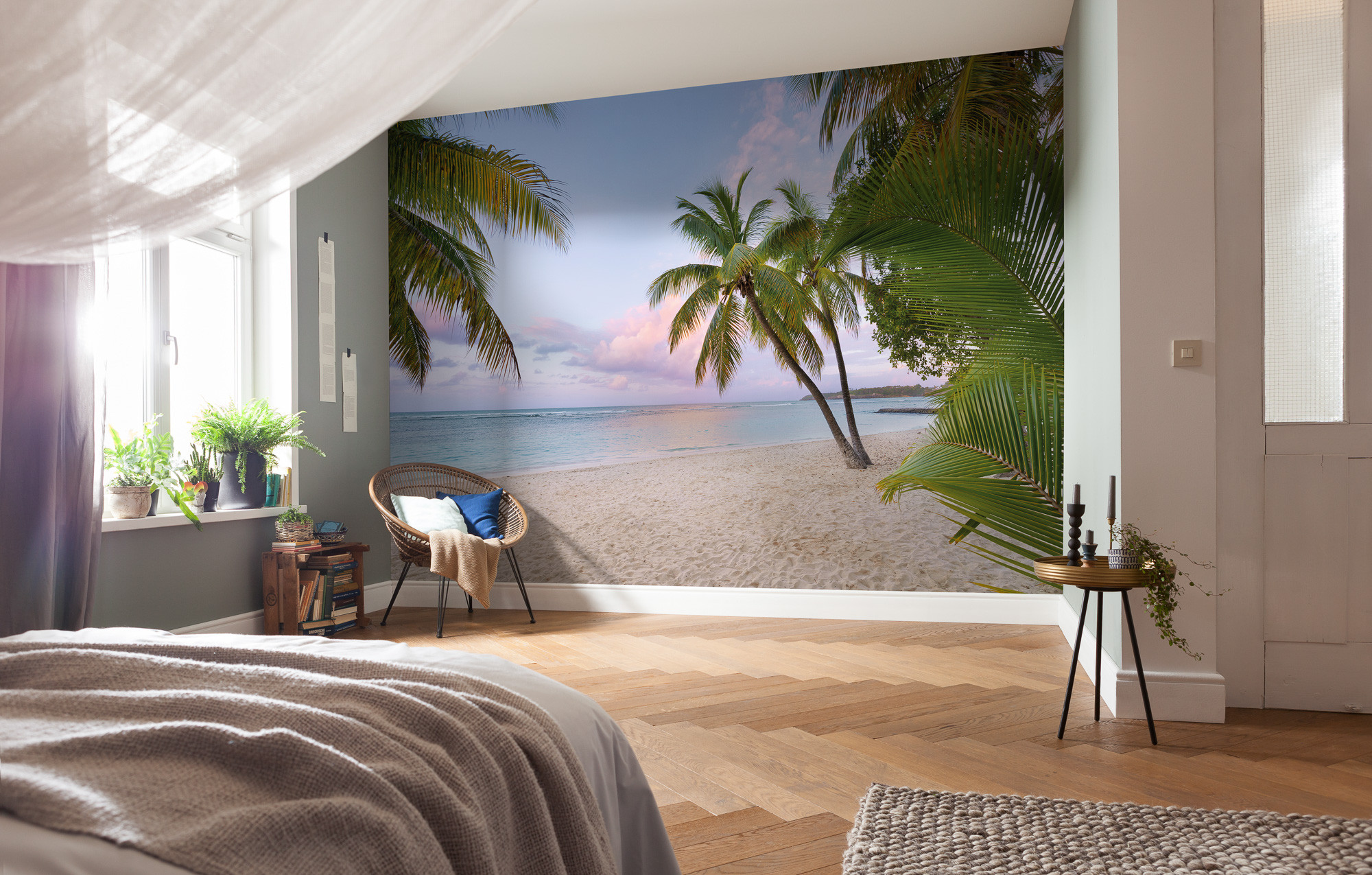 vliestapete paradise morning von national geographic. Black Bedroom Furniture Sets. Home Design Ideas