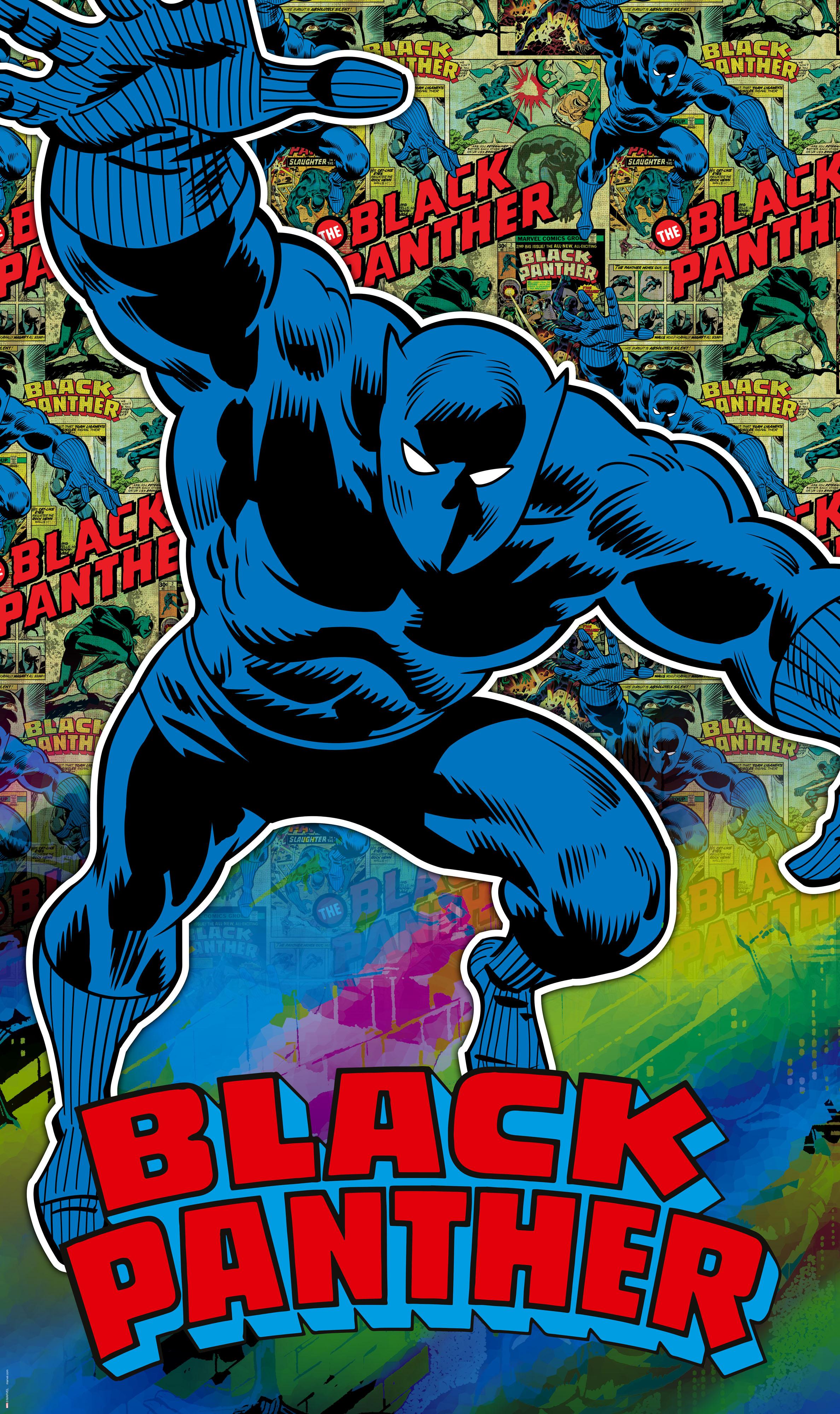 Panel Marvel Comics Black Panther Von Komar