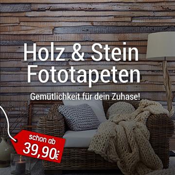 Holz & Stein Fototapeten - Gemütlichkeit für dein Zuhause!